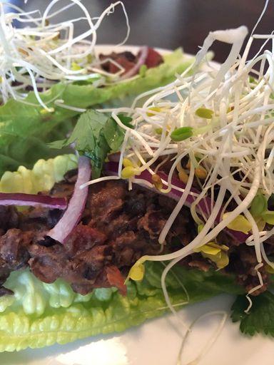 detox black bean lettuce wraps